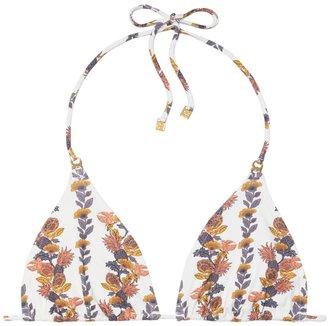 Tory Burch Gemini Link Printed String Bikini Top