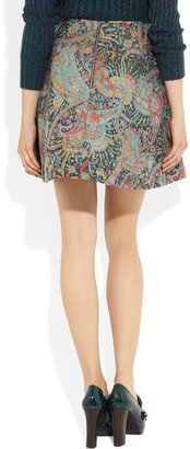 Carven Wool-blend brocade mini skirt