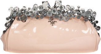 Prada Jewel Frame Clutch - Light Pink