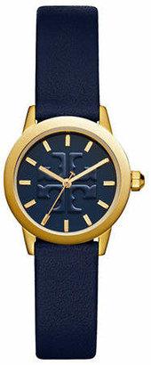 Tory Burch The Gigi Navy Leather Gold-Tone Watch