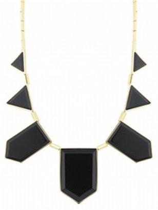 House Of Harlow Black Resin 5 Station Necklace