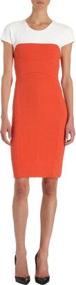 Narciso Rodriguez Contrast Short Sleeve Dress