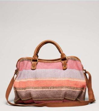 American Eagle AEO Striped Duffel Bag