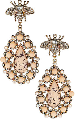 Topshop Fly and Stone Drop Earrings
