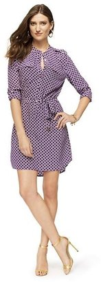 Juicy Couture Silk Tile Print Shirtdress