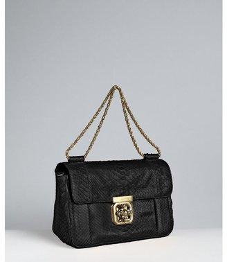 Chloé black python 'Elsie' shoulder bag