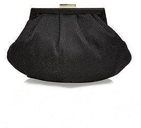 La Regale Black Glitter Soft Pouch