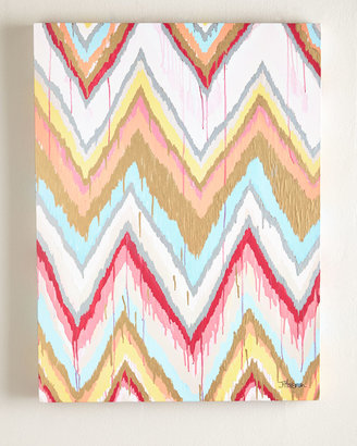 "Horchow Jennifer Moreman ""Global Chevron"" Giclee"