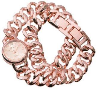 Journee Collection Women's Geneva Platinum Chain Link Wrap Watch -Rose Gold