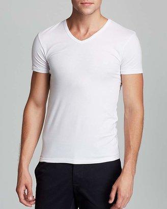 Emporio Armani Genuine Cotton V-Neck T-Shirt, 3-Pack $39.50 thestylecure.com