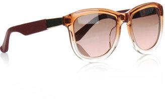 Linda Farrow For The Row Gradient orange sunglasses