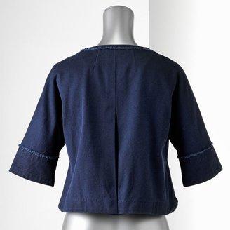 Vera Wang Simply vera twill jacket - women's