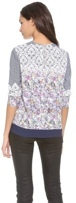 Yigal Azrouel Lace Check Print Top