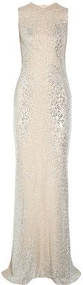 Kaufman Franco KAUFMANFRANCO Crystal and sequin-embellished silk-chiffon gown