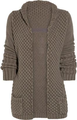 Rick Owens Chunky-knit alpaca and silk-blend cardigan