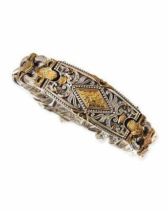 Konstantino Myrmidones Men's Filigree Link ID Bracelet $1,555 thestylecure.com