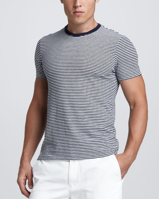 Polo Ralph Lauren Striped Tee, Newport Navy/White