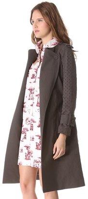 Carven Linen & Cotton Trench Coat