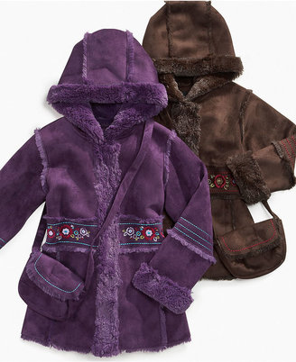 S Rothschild & CO S. Rothschild Kids Jacket, Little Girls Embroidered Shearling Coat with Handbag
