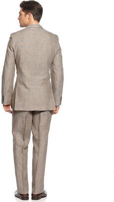 Lauren Ralph Lauren Lauren by Ralph Lauren Suit, Tan Linen Plaid