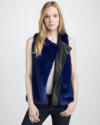 PJK Faux-Fur & Leather Vest