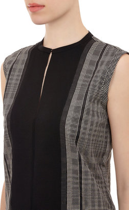 Lanvin Grosgrain Bib Dot-Print Top