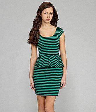 Teeze Me Striped Peplum Dress