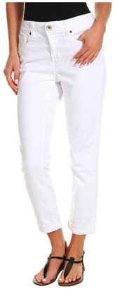 DKNY Soho Rolled Crop (White) - Apparel