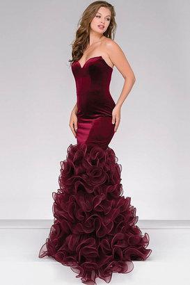 Jovani Velvet Mermaid Prom Dress 46609