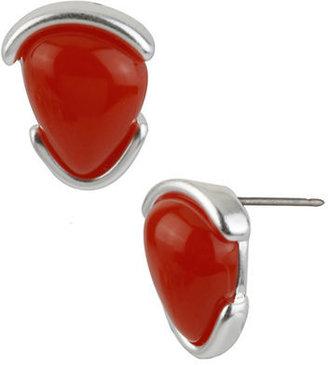 Robert Lee Morris Silver-Tone & Organic Bead Stud Earrings