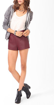 Forever 21 High-Waisted Faux Leather Shorts