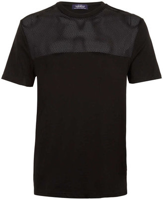 Topman Black Mesh Insert T-Shirt