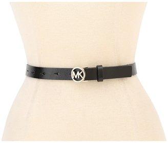 MICHAEL Michael Kors Michael Kors Pave Logo Buckle Belt (Black) - Apparel