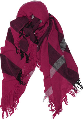 Burberry Accessories Checked merino wool scarf