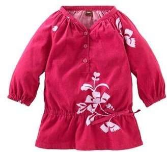 Tea Collection 'Floral Cozy' Corduroy Top (Little Girls & Big Girls)