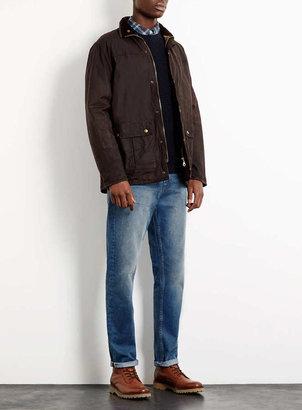 Topman Mid Wash Taper Fit Jeans