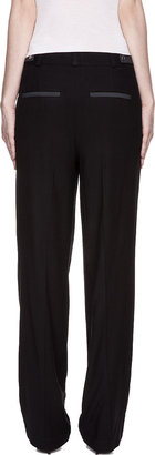 Helmut Lang Black Pleated Column Trousers