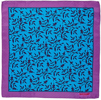 Duchamp Men's Floral-Print Pocket Square