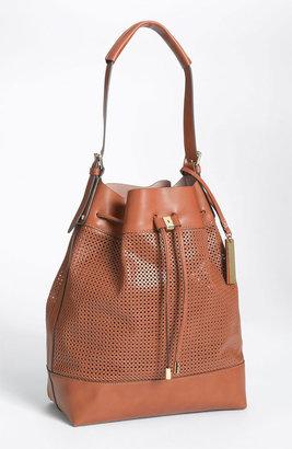 Vince Camuto Perforated Drawstring Shoulder Bag