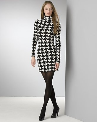 "Julie Haus Women's ""Yona"" Graphic Houndstooth Dress"