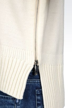 Armani Jeans Wool Blend Jumper With Logo