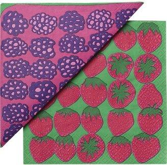 """Marimekko Set of 20 Mummolan Marjat Paper 6.5"""" Napkins"""