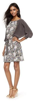 Juicy Couture Silk Floral-Print Dress
