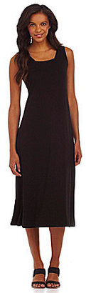 Eileen Fisher Squareneck Mid-Calf Dress