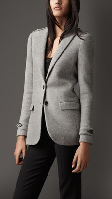 Burberry Relaxed Fit Cashmere Twill Jacket