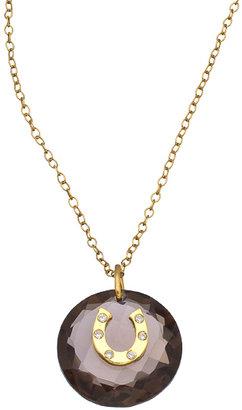 Charmed Circle Smoky Quartz Horseshoe Necklace