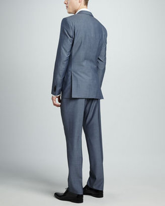HUGO BOSS Sharkskin Suit, Light Blue