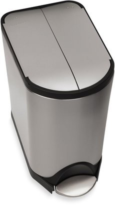 Simplehuman Brushed Stainless Steel Fingerprint-Proof 20-Liter Butterfly Step Trash Can