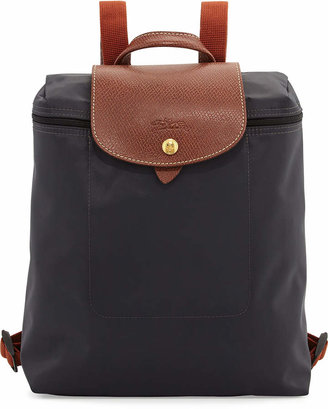 Longchamp Le Pliage Nylon Backpack, Gunmetal