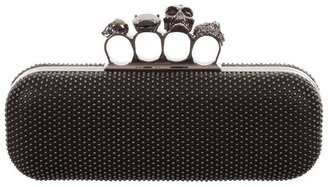 Alexander McQueen Studded Knucklebox Clutch